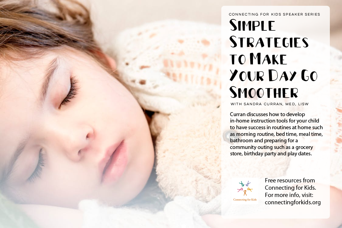 Simple Strategies to Make Your Day Go Smoother free resources from Connecting for Kids